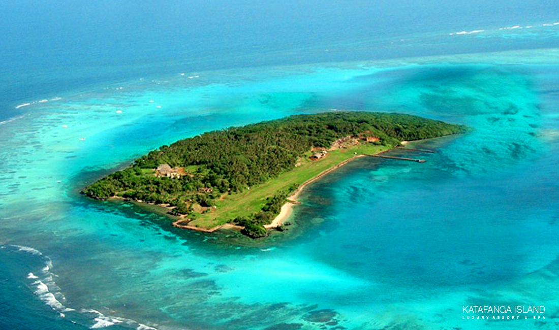 Katafanga Island Aerial View - Angled