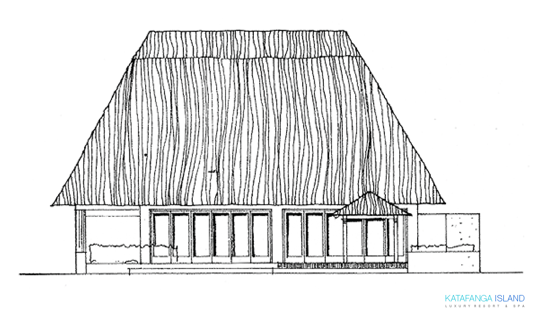 Villa Plan View - Elevation Back